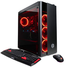 Load image into Gallery viewer, CYBERPOWERPC GXiVR8080A3 Overclockable Gaming PC Desktop (Liquid Cooled i7-8700K 3.7GHz, Z370 Motherboard, 16GB DDR4, NVIDIA GeForce RTX 2080 8GB, 240GB SSD, 1TB HDD, 802.11AC WiFi & Win 10) Black