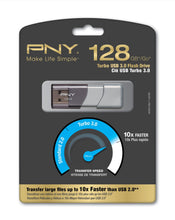 Load image into Gallery viewer, PNY Turbo 128GB USB 3.0 Flash Drive - P-FD128GTBOP-GE
