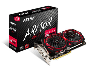 MSI Gaming Radeon RX 580 256-bit 8GB GDRR5 CFX Graphics Card (RX 580 ARMOR MK2 8G OC) & AMD Ryzen 5 2600 Processor with Wraith Stealth Cooler - YD2600BBAFBOX Bundle