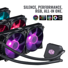 Load image into Gallery viewer, Cooler Master MasterLiquid LC240E RGB All-in-one CPU Liquid Cooler with Dual Chamber Pump Latest Intel/AMD Support (MLA-D24M-A18PC-R1)