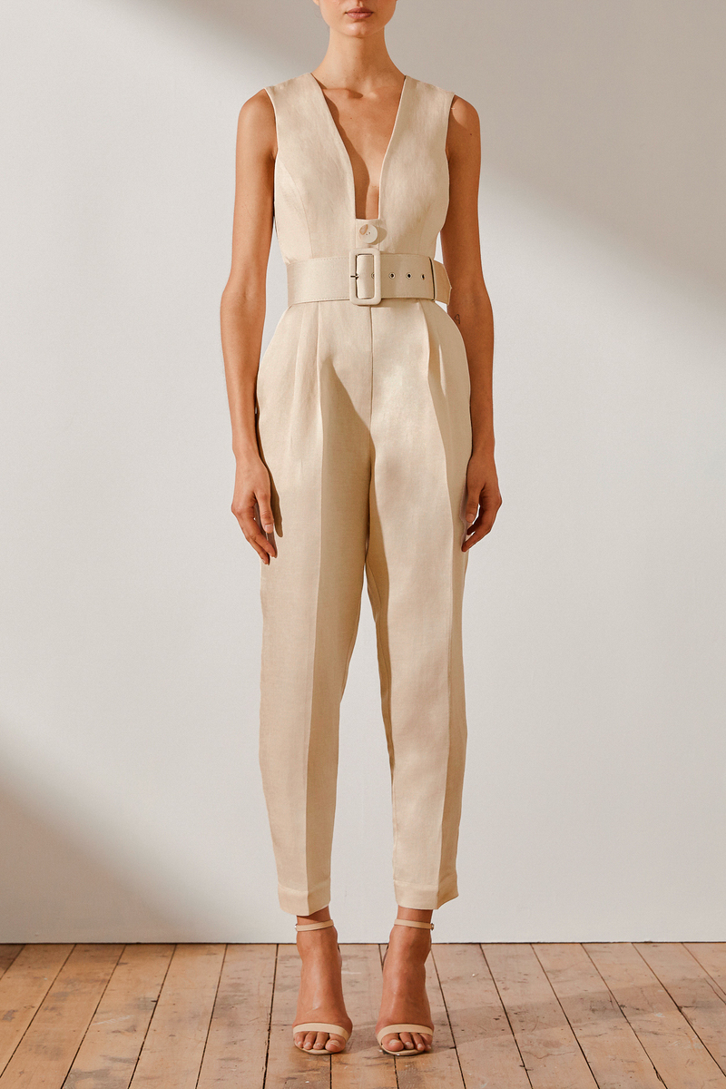Plunged Tailored jumpsuit