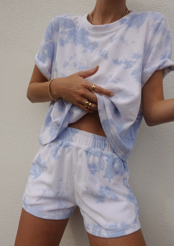 Short Set Tie Dye blue