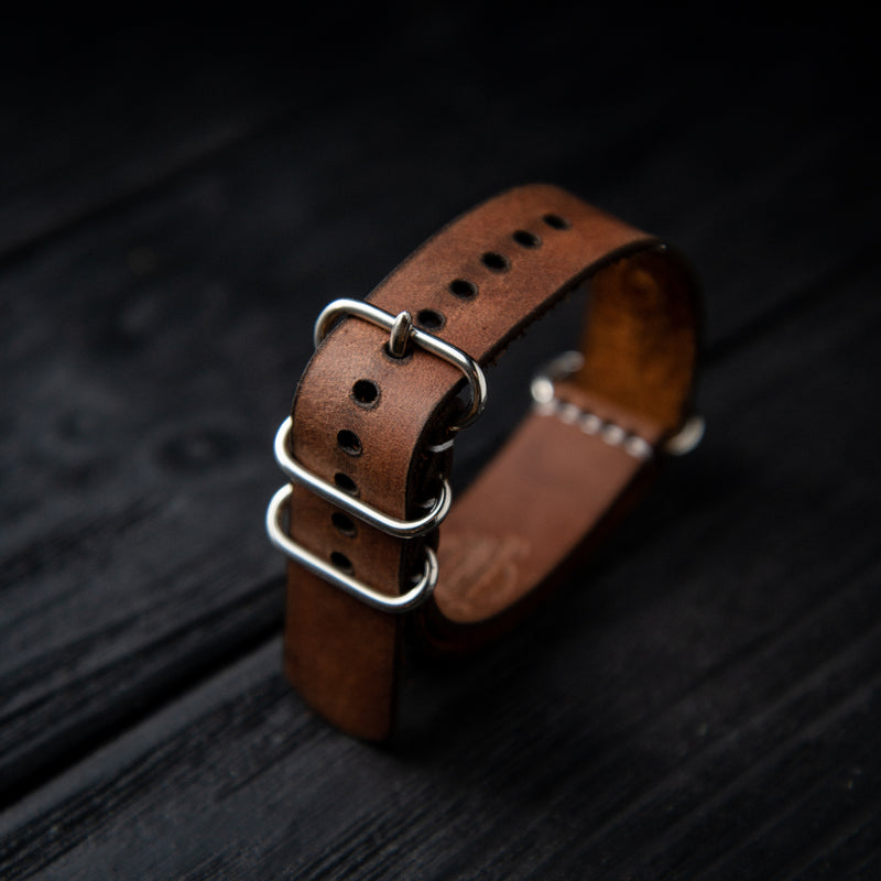 Leather Nato Strap 18 mm