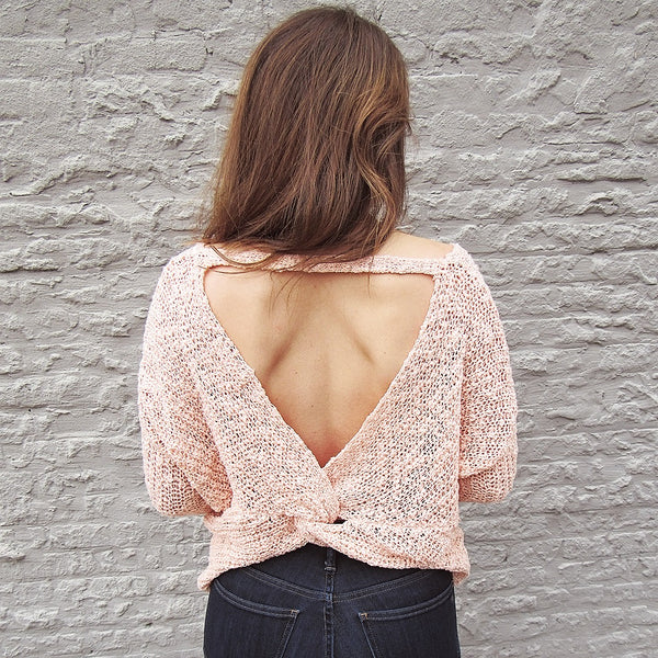 Peach Twisted Sweater