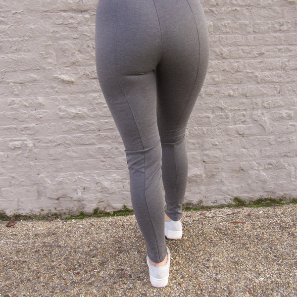 Charcoal Knit Leggings