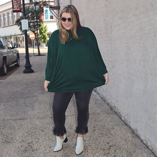 Emerald Poncho Top