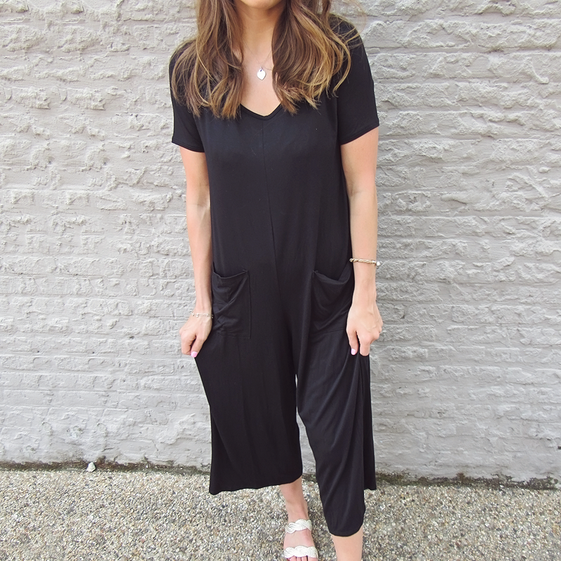 Chic V-Neck Jumpsuit