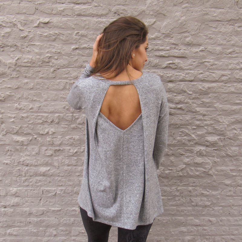 Open Drape Back Top