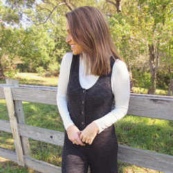 Charcoal Knit Jumpsuit