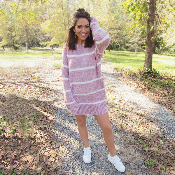 Blush Chenille Sweater Dress