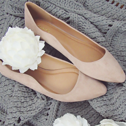Warm Taupe Suede Flat
