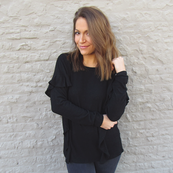 Raven Ruffle Sweater