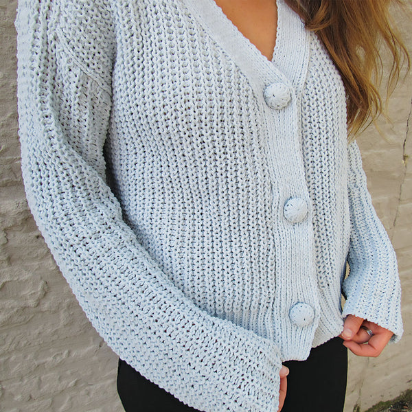 Powder Blue Cropped Sweater