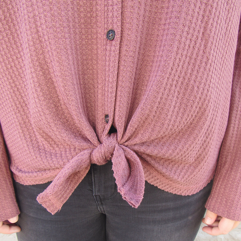 Burgundy Thermal Top