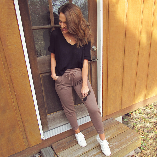 Coffee High Waisted Jogger
