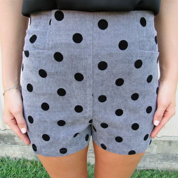 Polka Dot Corduroy Short