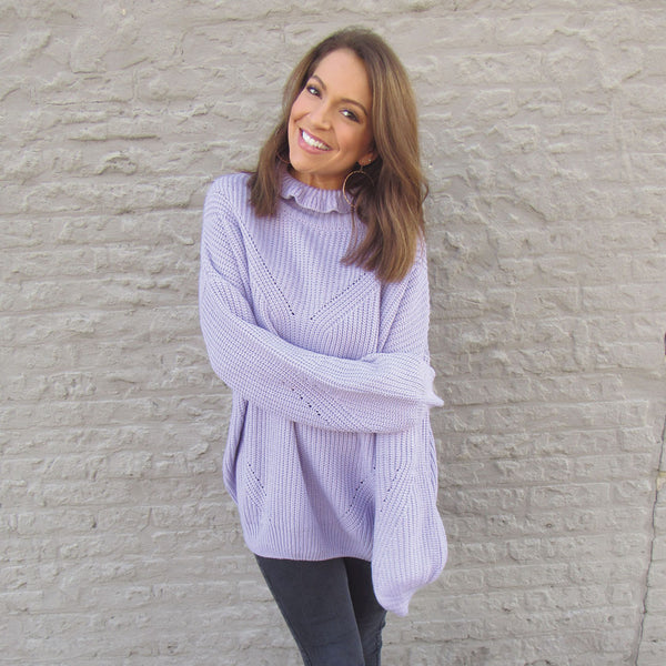 Lavender Chunky Sweater