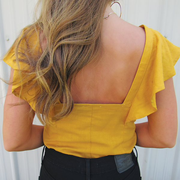 Ruffle Button Tank