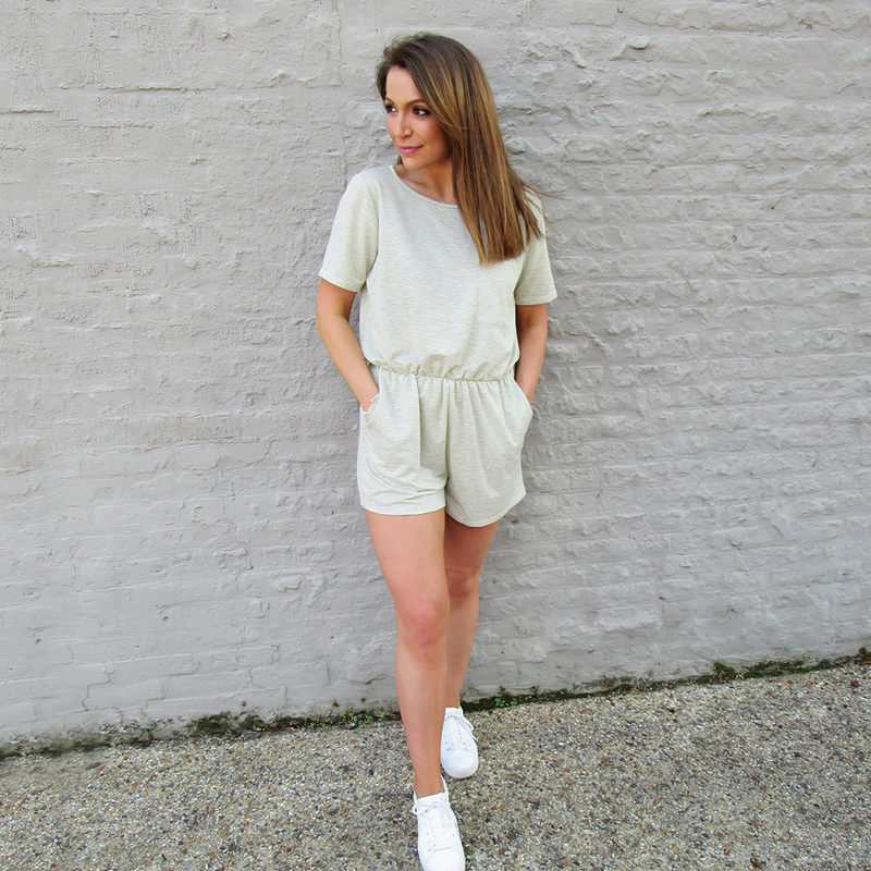 French Stripe Romper