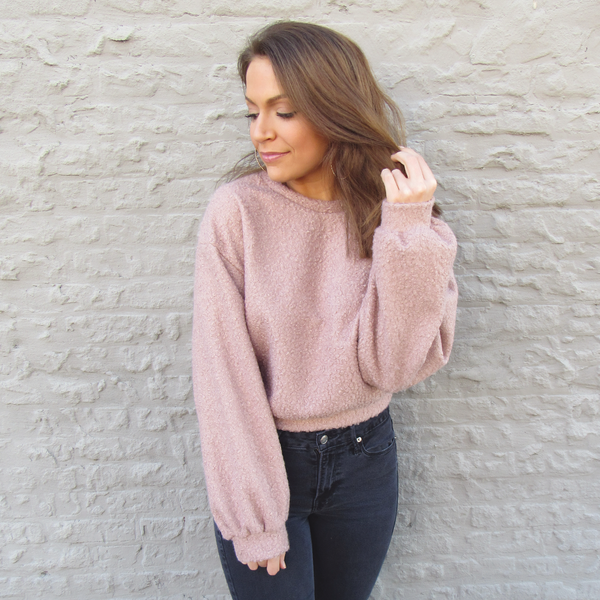 Mauve Teddy Sweatshirt