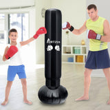 Punching ball  junior gonflable sur pied: noir