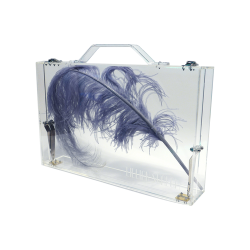 CARMEN CLEAR LUCITE Briefcase