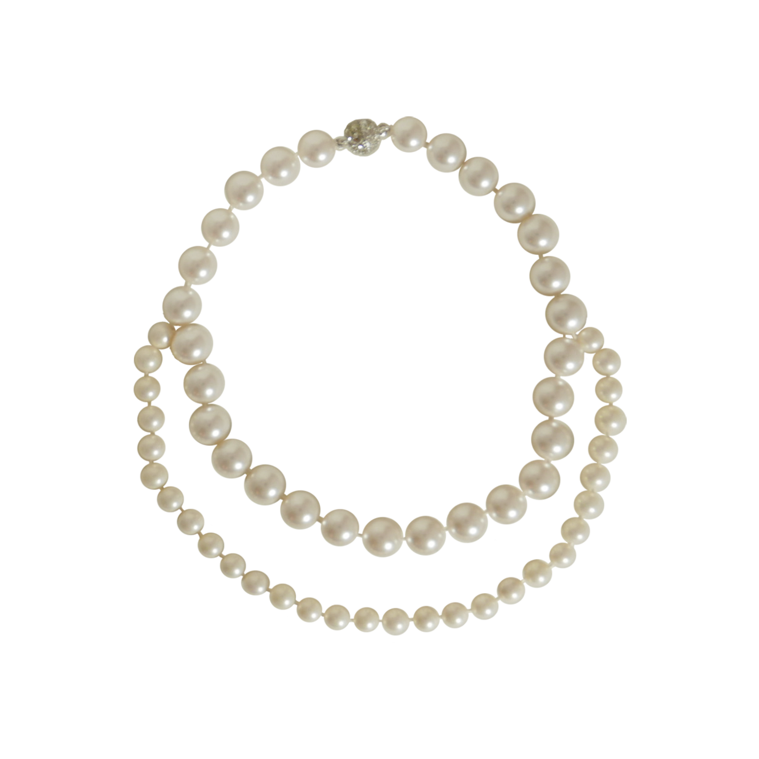 DIA DOUBLE PEARL Necklace