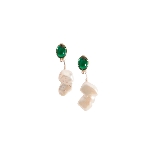 ELLE BAROQUE PEARL WITH DIAMONDS Earring