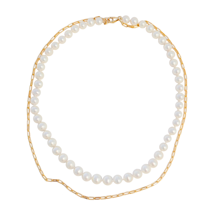 EVA PEARL X CHAIN Necklace