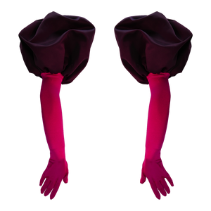 PUFFED OPERA GLOVES - Raspberry Plum