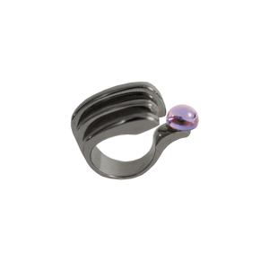 LENNY BLACK RHODIUM Ring