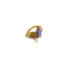 Load image into Gallery viewer, STELLA WITH DIAMONDS AMETHYST GOLD Pinky Ring