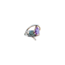 Load image into Gallery viewer, STELLA WITH DIAMONDS AMETHYST SILVER Pinky Ring