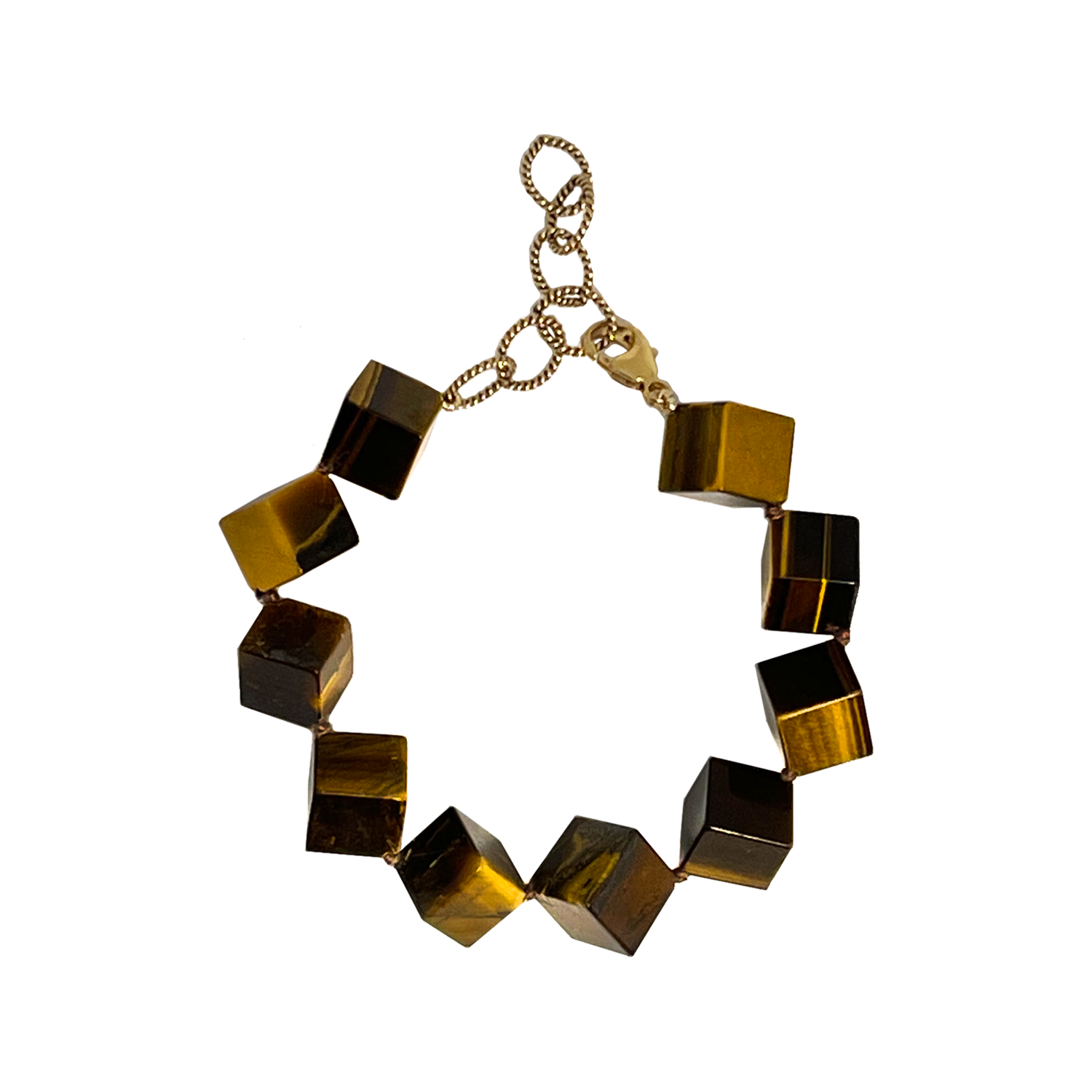 TIGERS EYE DICE Bracelet