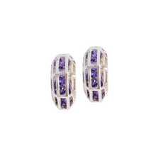 Load image into Gallery viewer, GLORIA CAGE PURPLE Earring