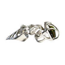 Load image into Gallery viewer, NIETZSCHE SILVER Armor Ring