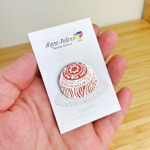 Tunnock's Tea Cake Enamel Pin
