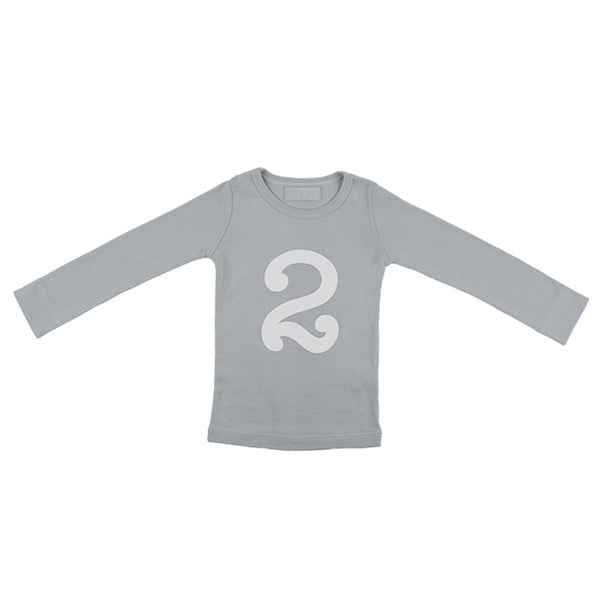 cloud grey skinny number 2 t-shirt