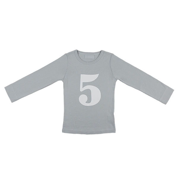 cloud grey skinny number 5 t-shirt