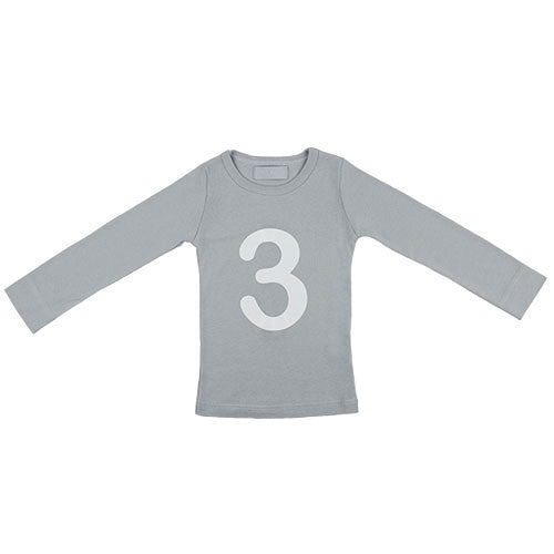cloud grey skinny number 3 t-shirt