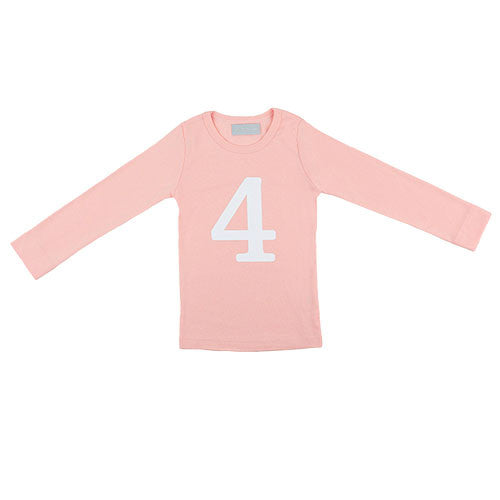 marshmallow skinny number 4 t-shirt