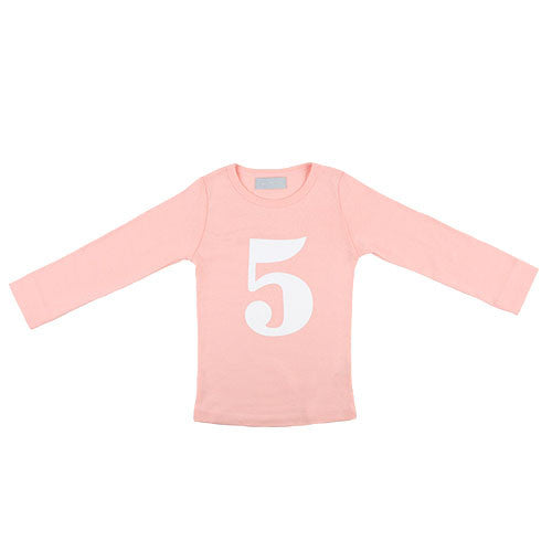marshmallow skinny number 5 t-shirt