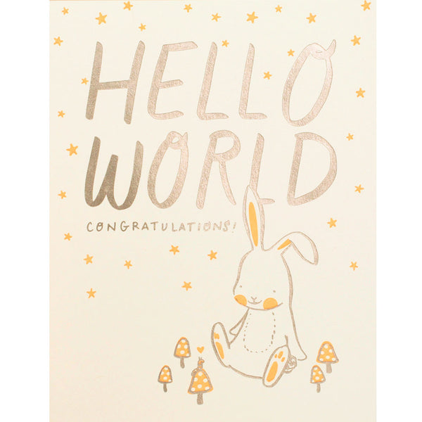 bunny hello world card