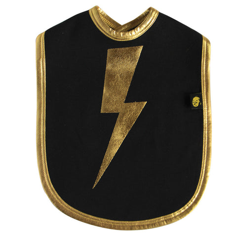 gold lightning bib