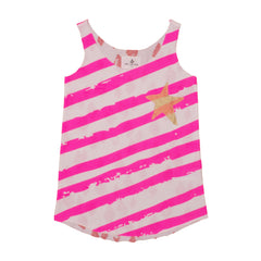 pink stars and stripes vest tank top
