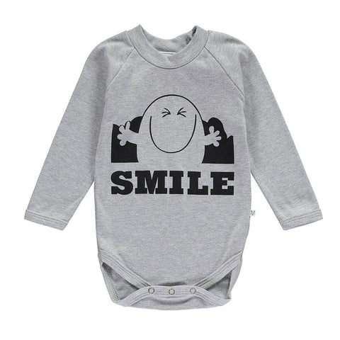 Mr Smile long sleeved romper