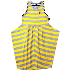 yellow and grey triangle Dress