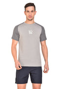Red Cheri Muscle up Tee - Light Grey
