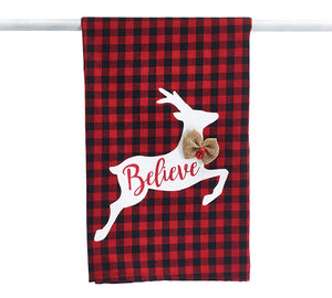 Buffalo Check Reindeer Towel