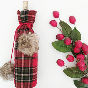 Plaid Wine Bag